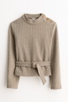Petite Studio NYC ingrid sweater - light moss