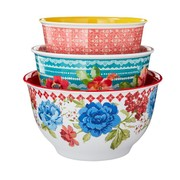 The Pioneer Woman Classic Charm Melamine Bowl Set with Lids