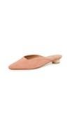 pink slip on heeled flats