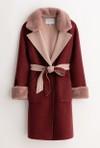 Petite Studio NYC elsa wool coat - rose & pink
