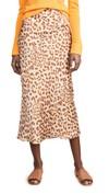 long leopard print waist high skirt