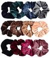 colorful velvet hair scrunchies