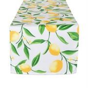 DII Lemon Bliss Print Outdoor Table Runner