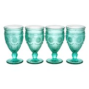 The Pioneer Woman Adeline 12-Ounce Footed Glass Goblets