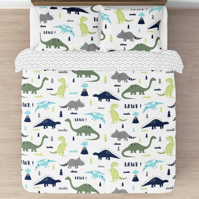 Kids Dinosaur Bedroom | Dinosaur Bedding & Room Decor