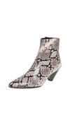 snake skin printed ankle boots
