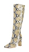 snake print knee high boots