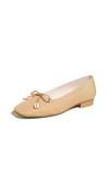 tan flats with a slight heel