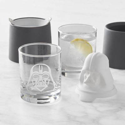 Etched Glasses & Ice Mold Set