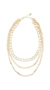 tiered gold necklace