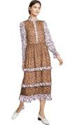 leopard printed long sleeve dress