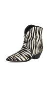 zebra print ankle cowboy boots