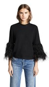 feathered bell sleeve shirt