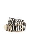 zebra print belt