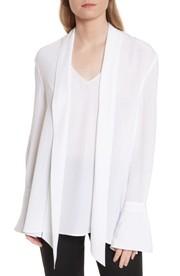 Dylan Dreyers White Bell Sleeve Dress Big Blonde Hair