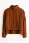 Petite Studio NYC Aubrey cashmere blend sweater - burnt orange